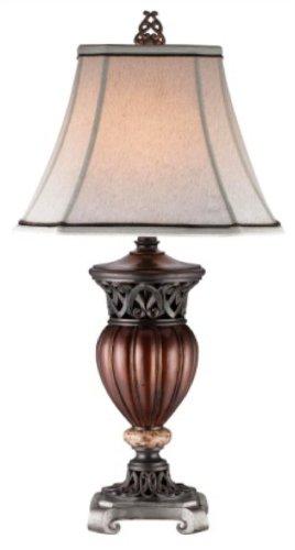 Ore International K-4190T Roman Bronze Decorative Table Lamp, 32-Inch