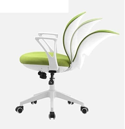 PARTAS Lämplig för stillasittande – ergonomisk design bekväma slitstarka stolstolar dator svängbar stol konferensstol kontorsstol spelstol (färg: Orange) Grått