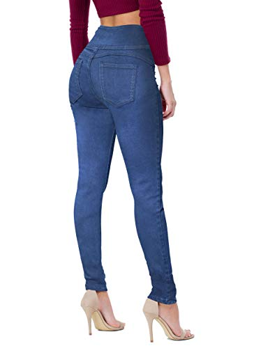 (Women's Butt Lift V3 Super Comfy Stretch Denim Jeans P45067SK Medium BLU 5)