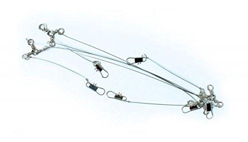 Lazer Sharp Lazer Piano Wire Leader with 3 Way Swivel, 22-Inch - Buy ...