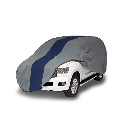 Duck Covers Double Defender SUV/Truck Cover, All Weather Protection, Limited 3 Year Warranty,  Fits SUVs or Trucks with Shell or Bed Cap up to 22 (Dodge Truck B250 Van)