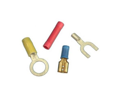 Pack of 100 Burndy YAE14N4 BOX Insulug Nylon Insulated Ring Tongue Terminal 1.19 Length 3//8 Stud Size 16-14 Wire range 0.53 Width 0.53 Width 1.19 Length