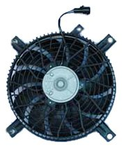 Tracker Condenser Cooling Fan - TYC 610660 Chevrolet Tracker Replacement Condenser Cooling Fan Assembly