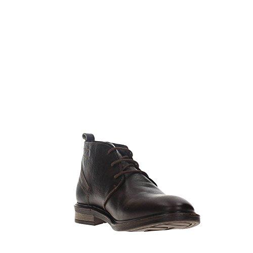 Wrangler Roll Desert Leather, Zapatillas de Estar por Casa para Hombre Dk.brown