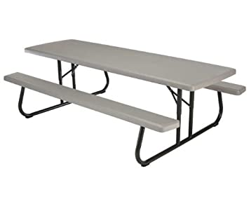Amazoncom Ft Commercial Foldable Picnic Table Pack Pet Supplies - Commercial outdoor picnic table store