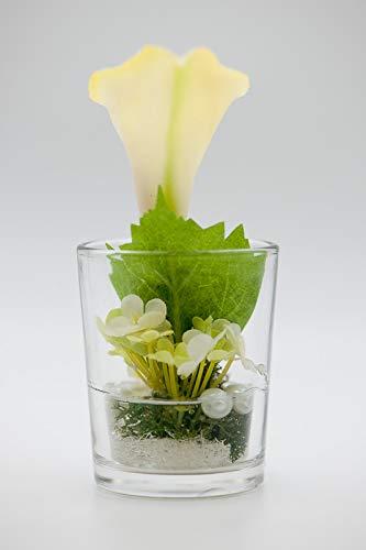 Kleines Tischgesteck Mit Calla Im Glas Tischdeko Mit Kunstlichen