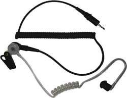 Earbud, Black, 2.5mm Jack, Plastic/Metal