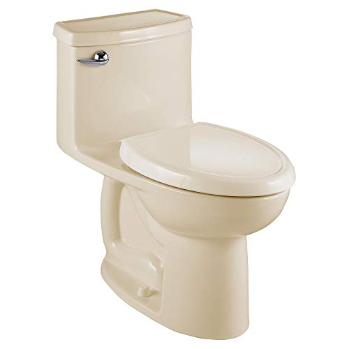 American Standard 2403128.021 Compact Cadet 3-FloWise Tall Height 1-Piece 1.28 GPF Single Flush Elongated Toilet with Seat, Bone