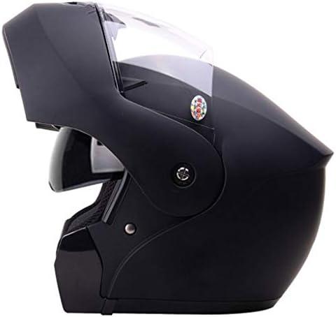 NJ ヘルメット- オートバイヘルメット男性と女性四季ユニバーサルフェイスヘルメット防曇ダブルミラーヘルメット (Color : Sub-black, Size : XL)