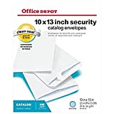 Office Depot Clean Seal(TM) Catalog Envelopes, 10in. x 13in., White With Security Tint, Pack Of 100, 77929