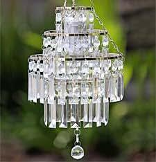 Amazon.com: xxxx Battery Operated LED Crystal Pendant ...