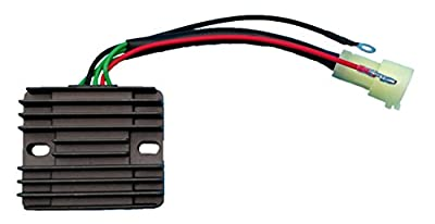 Tuzliufi Voltage Regulator Replace Mercury 75-90 HP 4 Stroke Marine Yamaha 80-100HP Outboard 2000 2001 2002-2005 Replace 804278A12 804278T11 67F-81960-12-00 67F-81960-11-00 67F-81960-10-00 New Z34