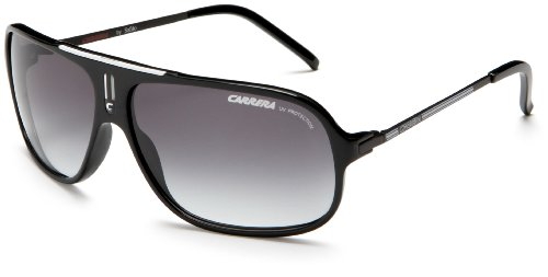 Carrera Cool Navigator Sunglasses,Black And White Frame/Grey Gradient Lens,one - Sun King Logo