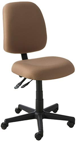 - OFM Posture Series Armless Mid Back Task Chair - Stain Resistant Fabric Swivel Chair, Taupe (118-2)