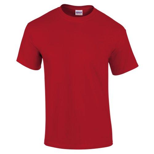 Gildan Men's Ultra Cotton Crewneck T-Shirt, Red, XXX-Large
