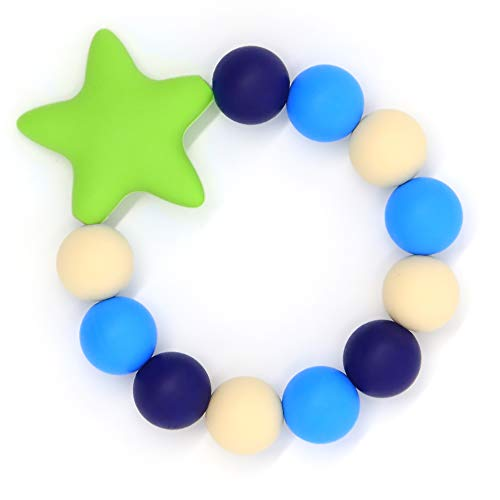 HiGuard Baby Teether Ring - BPA Free Silicone Teething Beads