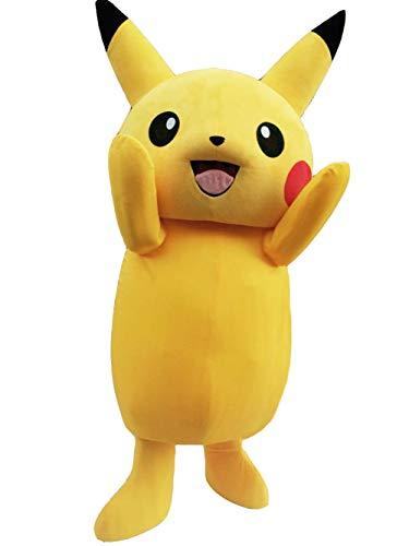 (ZYZ Pikachu Mascot Costume Pikachu Costume (M (171 cm-180 cm)- 5'7'' to)