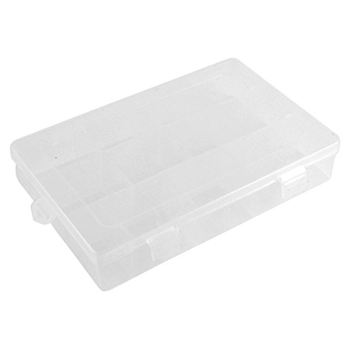 Plastic 9 Detachable Plate Fishing Lure Bait Storage Tackle Box Clear