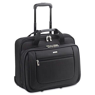 Solo Rolling Laptop Portfolio Case With Zip-Down Organize...