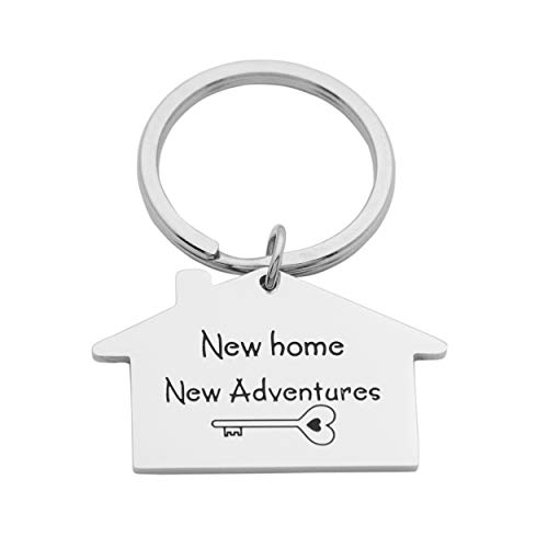 Kingmaruo Housewarming Gift New Home Owner Gift New House Keychain First Home Keyring Mother Effing Home Owner (New Home New Adventures)