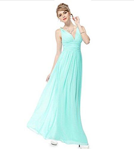 Drasawee Damen Kleid Hellgrün Linie A 18Xg8qP