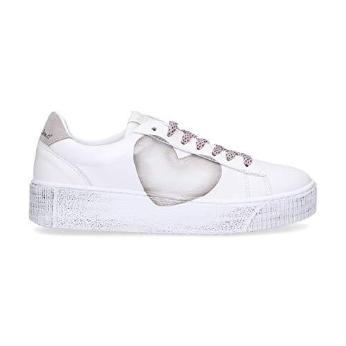 Blanco Cocu71 Rubens Cuero Mujer Zapatillas Nira fnv78xwx
