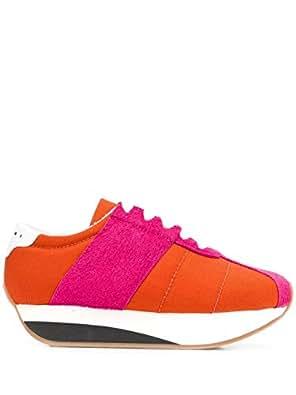 Marni Luxury Fashion Womens SNZW000704P2015ZL907 Orange Sneakers | Fall Winter 19