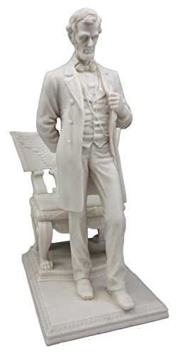 """Atlantic Collectibles President Abraham Lincoln Figurine Standing By Eagle Chair of State 9""""H"""