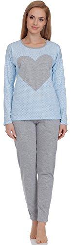 Italian Fashion IF Mujer Pijamas Alex 0223 Azul/Melange