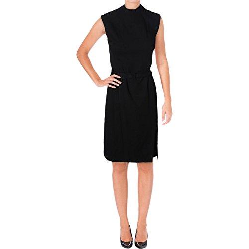 LAUREN RALPH LAUREN Womens Jacinthe Belted Wear to Work Dress Black 10