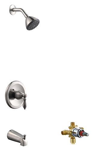 Design House 545632 Hathaway Tub & Shower Faucet, Valve Included, Satin Nickel by Design House