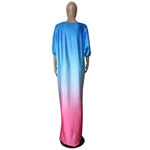 Robe De Robe Basique Femme Bas Irrgulire Ongue D't Soleil Bleu Dt Sexy wqF8Cw
