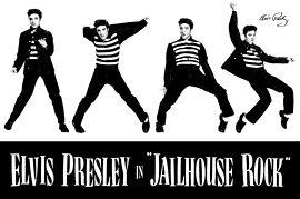 Elvis Jailhouse Rock Epe Music Poster