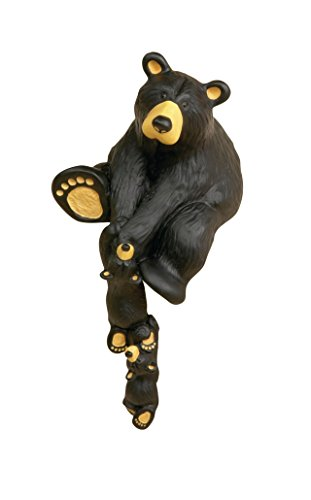 DEMDACO Helping Paw Momma Black Bear 10 x 5 Hand-cast Resin Shelf Sitter Figurine