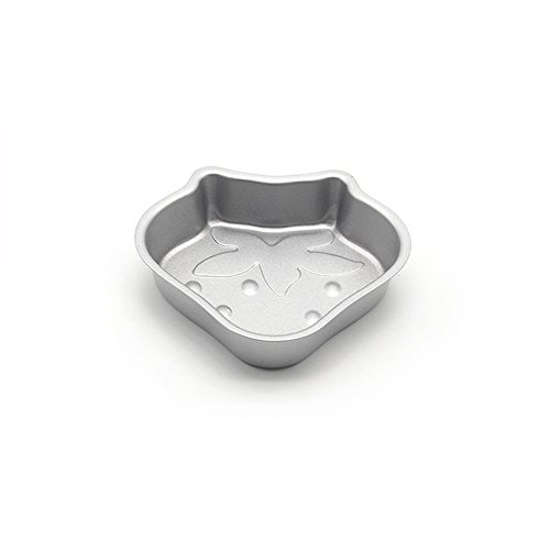 (ufengke Heavy Carbon Steel Non-Stick Strawberry Shaped Cupcake And Pudding Mold )