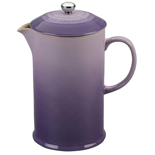 Le Creuset PG8200-10BP Stoneware French Press Coffee Maker, 27 oz, Provence