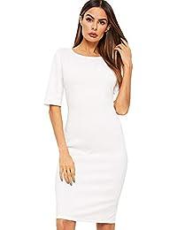 Women's Short Sleeve Elegant Sheath Pencil Dress