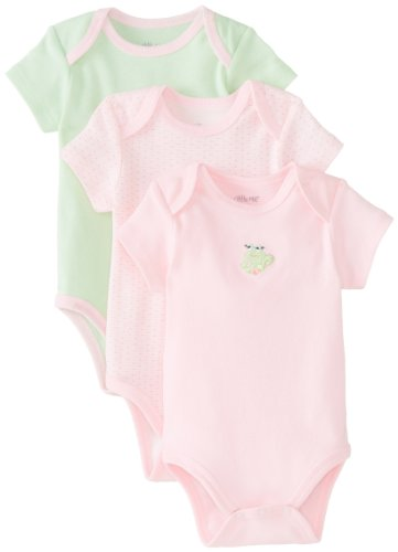 Little Me Baby-Girls Newborn Froggy 3 Pack Bodysuit, Pink/Multi, Newborn