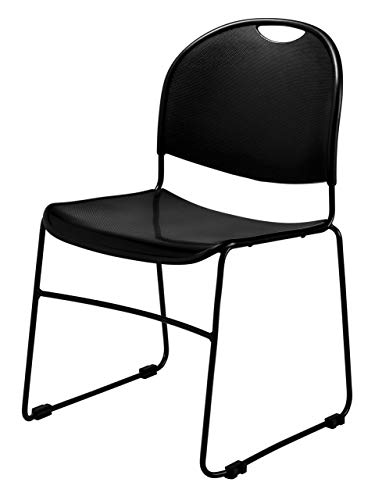 Stack Chair Economy - OKSLO Coercialineв economy stack chair with built-in ganging, black