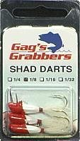 "Gags GGSD18-07 Shad Darts 1/8"" Red/White 3PK"