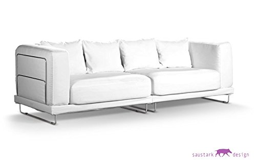 Algodón blanco funda protectora para IKEA tylösand 3 plazas ...