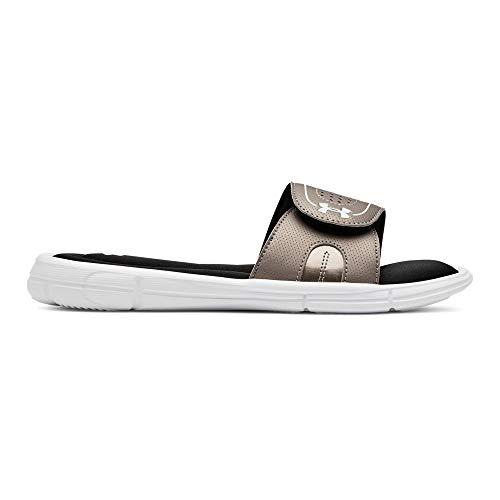 Under Armour Women's Ignite VIII Slide Sandal, Sandal Black (005)/Metallic Sepia 12 M ()