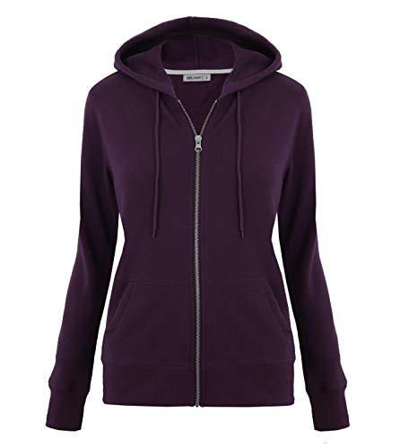 DELight Women's French Terry Regular Fit Zip up Hoodie (Medium, ()