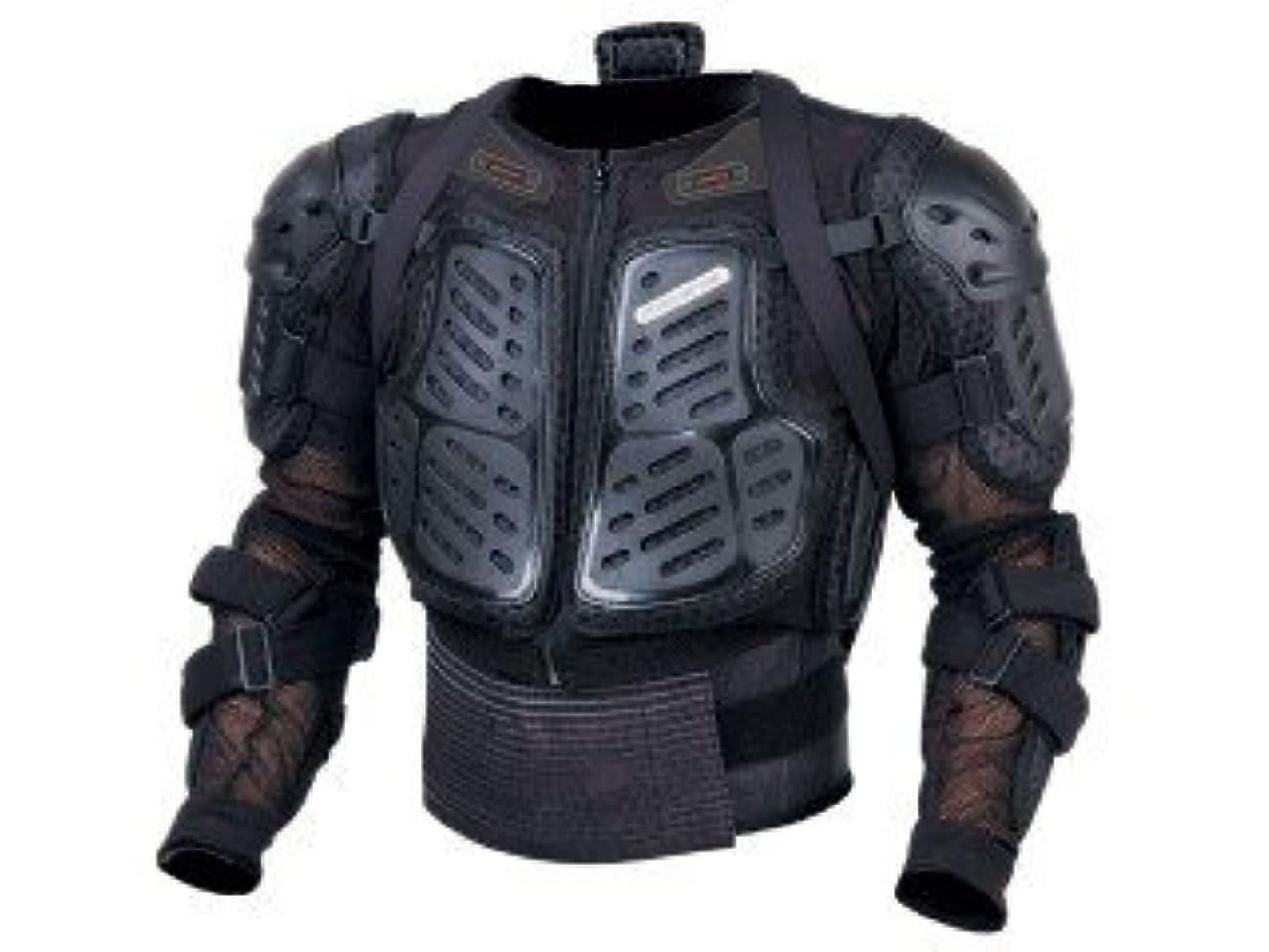 推測する消去受付[QIHANG]バイク用 胸部プロテクター ブラック オートバイプロテクター メッシュ構造 通気 上半身保護 胸、背中、椎骨のガード 調整可能 マジックテープ S/M/L 大きい対応 プロテクター 黒い M