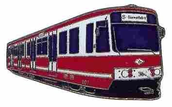 Alfiler de Corbata Ciudad Tren carro Dortmund Blanco Rojo * DE ...