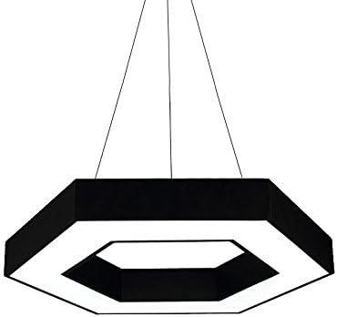 Simple Y Elegante Lámpara LED Geométrica Iluminación De La Oficina Lámpara De Restaurante Hexagonal Dormitorio Lámpara Red Café Lámpara Hexagonal Lámpara Blanca Creativa Lámpara De Ingeniería 40-80 Cm: Amazon.es: Hogar