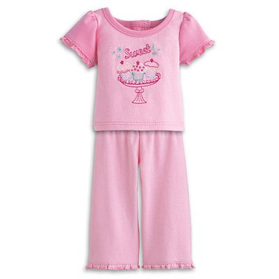 American Girl My AG Sweet Treats Pajamas for Dolls + Charm