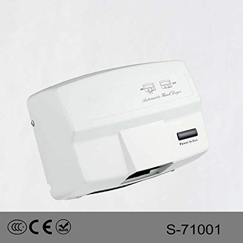 ZTJ-Lighting Hand Dryer,Automatic Commercial Hand Dryers,1650W High Speed Heavy Duty Wall-Mounted Drying Machine for Bathrooms/restrooms/Toilets,Aluminum Alloy,110-240v (Color : White) ()