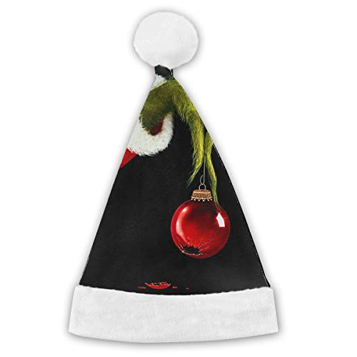 BLI Halloween The Grinch Stole Christmas Customes Hat,Christmas Hat Velvet Santa Party Hats Festive Holiday