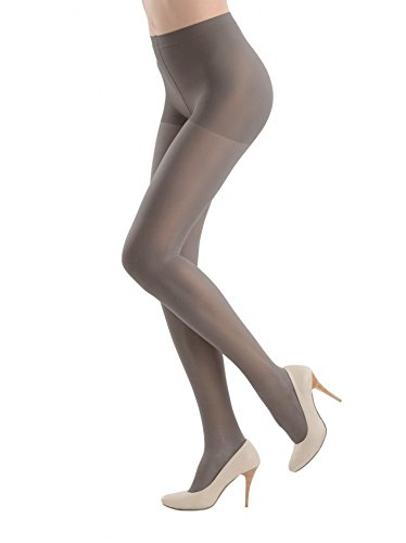 Support Womens Hosiery - Conte elegant Women's Support Tights with a Moderate Compression and Reinforced Shorts - Grey (Grafit), XX-Large (Plus Size)